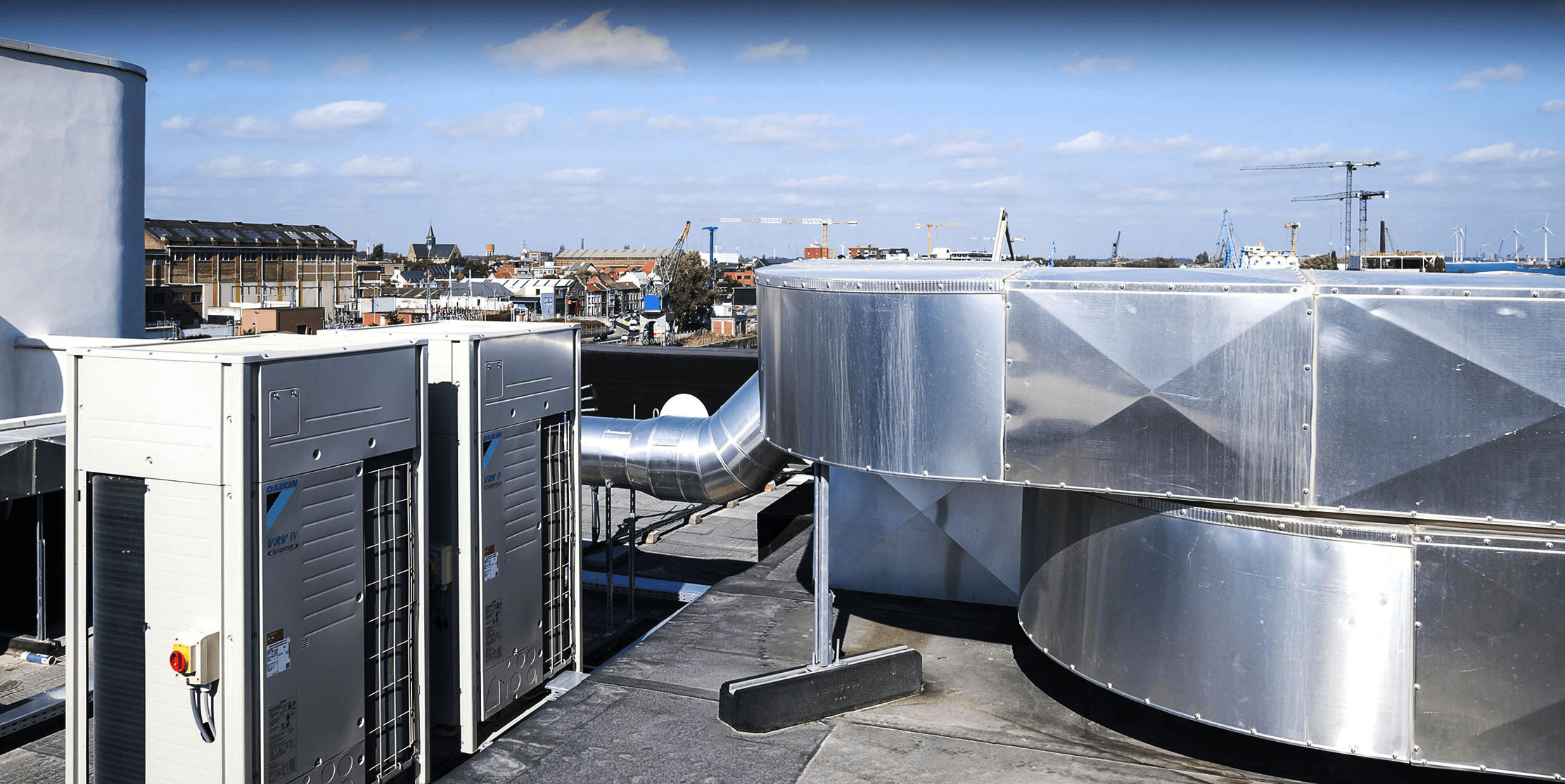 commercial and industrial air conditioning systems.