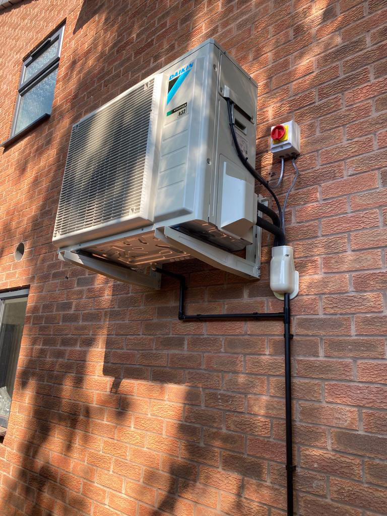 Domestic installation of-air-conditioning-
